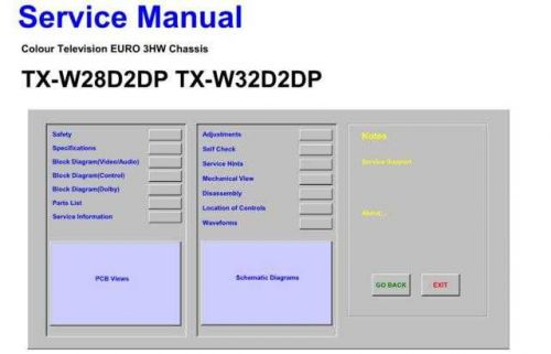 Television TXW32D2DP Service Manual by download Mauritron #194862