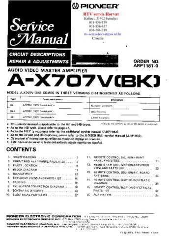 PIONEER AX707V by download #127607