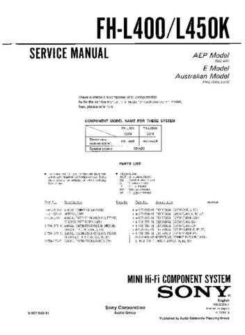 SONY F-V620 Service Manual by download #166831