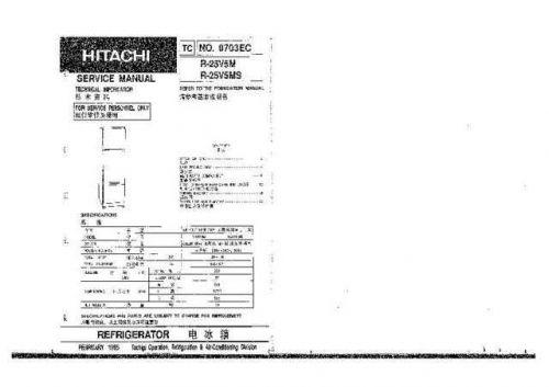 HITACHI No 0703EC Service Data by download #147296