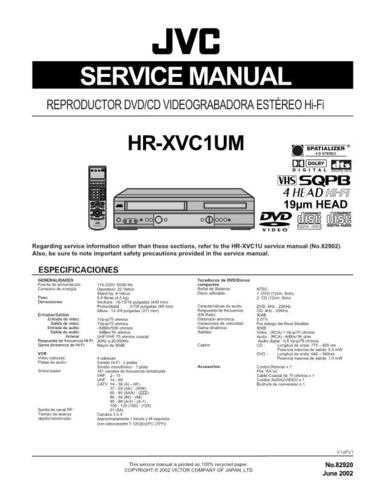 JVC 82920 Service Schematics by download #122844