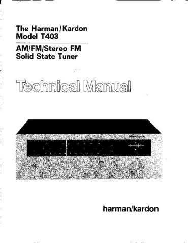 INFINITY T403 SM Service Manual by download #151584