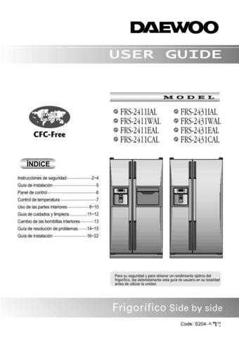 Deewoo FRS-2411IAL (S) Operating guide by download #168297