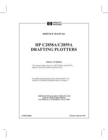 Hewlett Packard DesignJet 20650C 20- 20 20 Service Manual by download #155234