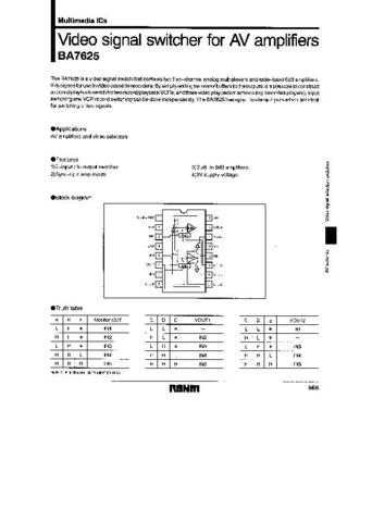 MODEL BA7625 Service Information by download #123760