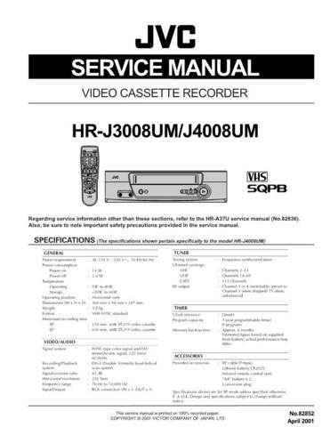 JVC HR-J4008UM Service Schematics by download #155927