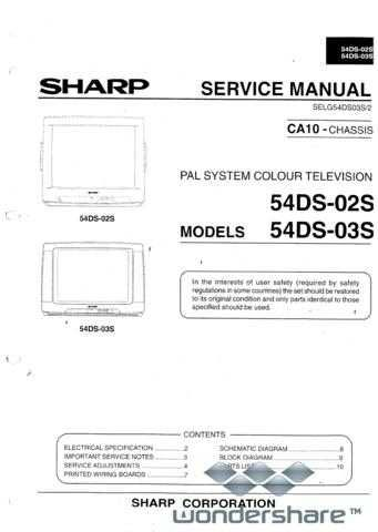 Sharp 54DS02-03S SM GB Manual.pdf_page_1 by download #178630