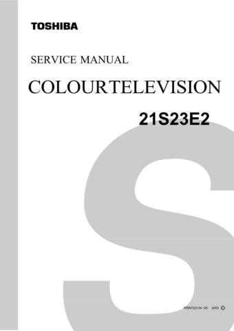 Toshiba 21S04B Manual by download #170244