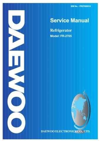 DAEWOO SM FR-2705 (E) Service Data by download #146805