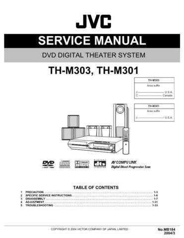 JVC TH-M303 Service Manual by download #156551