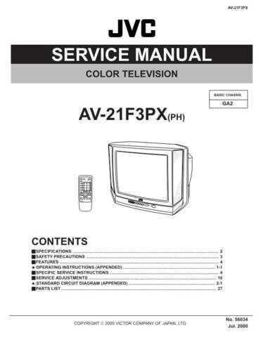 JVC 56034 Service Schematics by download #122554