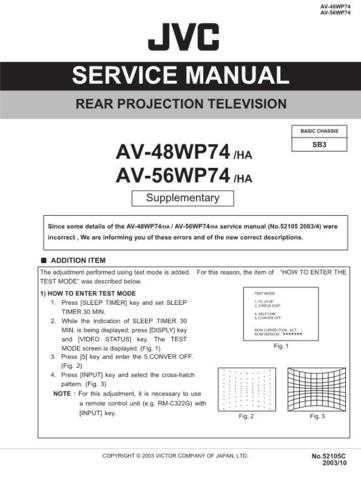 JVC AV-56WP74 HA Service Schematics by download #155381