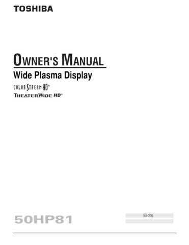 Toshiba 50a10 Manual by download #170747