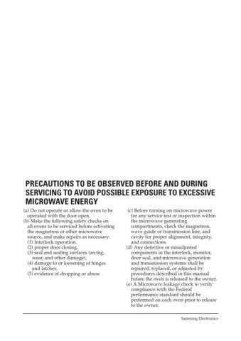 Samsung MW7490W XAC51614102 Manual by download #164813