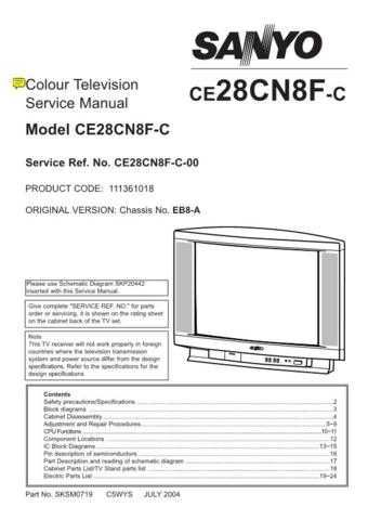 SANYO CE28D3-C EB4-A Service Data by download #133481