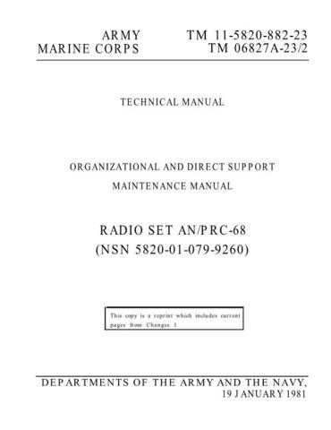 Military PRC68 OM Service Schematics by download #156817