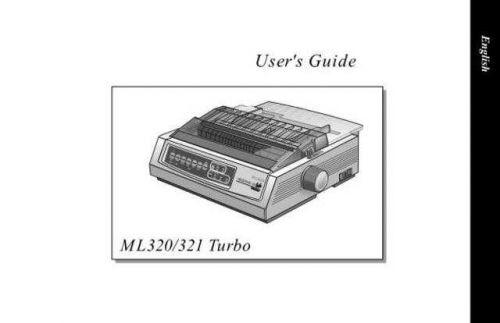 OKIDATA ML320 321 MANUAL by download #148593
