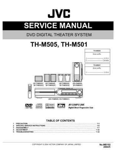 JVC TH-M505 Service Manual by download #156559