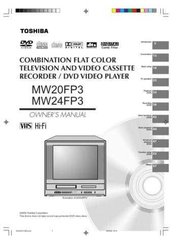 Toshiba MW27F51 OM E Manual by download #172254