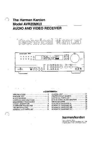 HARMAN KARDON LXE770 TS Service Manual by download #142749