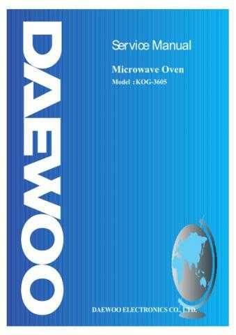Daewoo KOG-3605 (E) Service Manual by download #155012