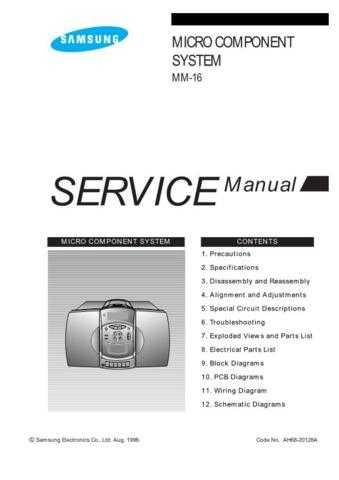 Samsung MM16LC ABSTN011101 Manual by download #164631