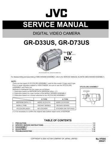 JVC GR-D33-73US schem Service Schematics by download #155599