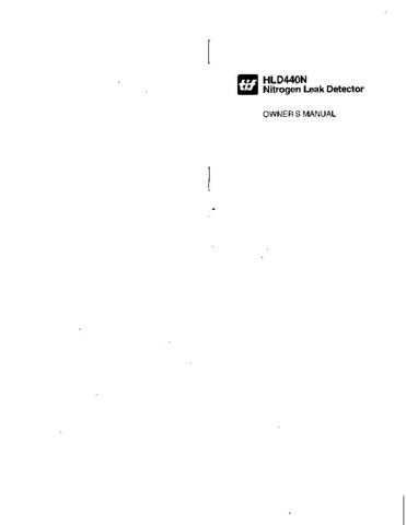Amprobe HLD440N User Instructions Operating Guide by download Mauritron #194377