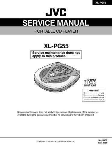 JVC XL-PG55 Service Manual by download #156674