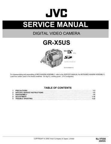 JVC GR-X5US Service Schematics by download #155867