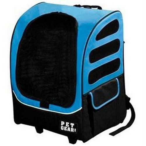 Pet Gear I-GO Plus Traveler Pet Carrier Car Seat Backpack Ocean Blue