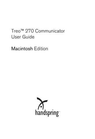 PALM TREO180G PC USER GUIDE by download #127403
