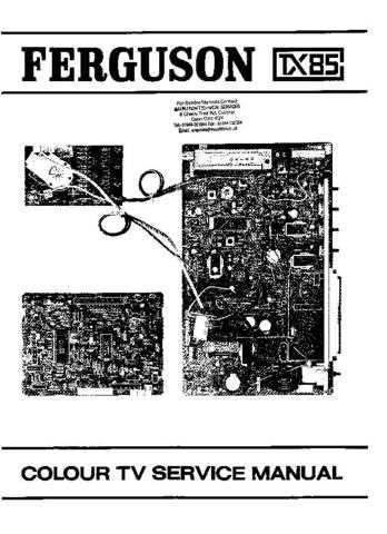 Ferguson TX85A1 6 Service Schematics by download #155144