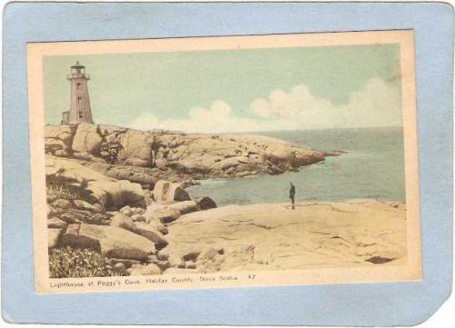 CAN Nova Scotia Lighthouse Postcard Halifax Peggy's Cove Lighthouse lighth~991