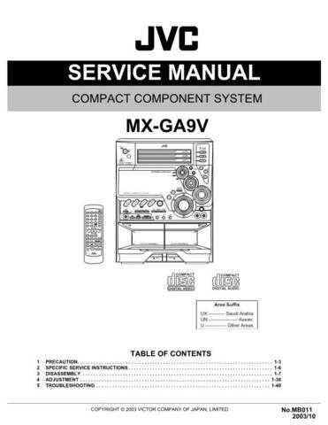 JVC MX-GA9 Service Schematics by download #156319
