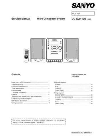 Sanyo DC-DA100-02(1) Manual by download #173846