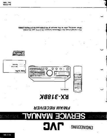 JVC RX-DV3SL Service Manual by download #156509