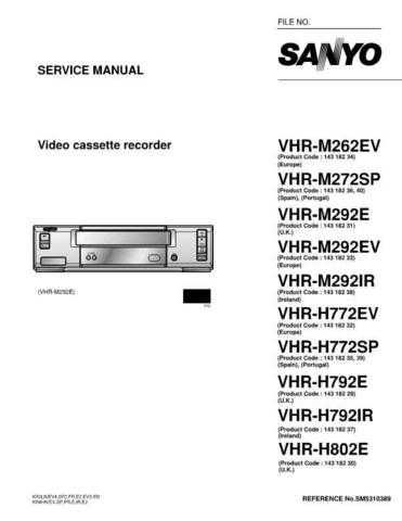 Sanyo Service Manual For VHR-H792E Manual by download #176218