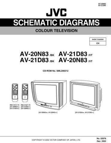 JVC AV-20N83 AV-21D83 schem Service Schematics by download #155315