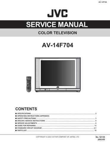 JVC AV-14F704 TECHNICAL DATA by download #130513