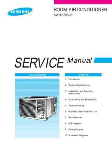 Samsung AWH1808ER SEF40208101 Manual by download #163736