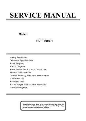 AKAI_PDP-5016_[SM] Manual by download Mauritron