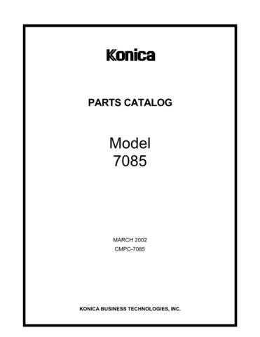 Konica 7085PC Service Schematics by download #135539