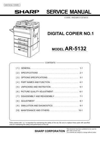 Sharp AR5015N-5020 SM GB(1) Manual by download #170085