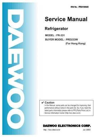 Daewoo FR-540N Service Manual by download #160662