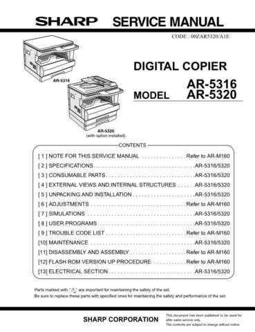 Sharp AR5120-5015N SM GB Manual by download #170088