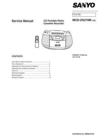 Sanyo SM5810730-00 04 Manual by download #177109