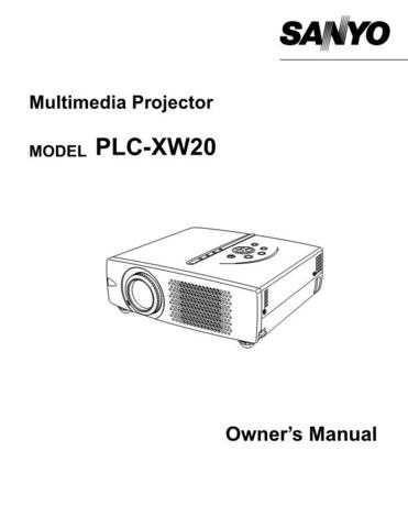 Sanyo PLC-XU31(OM5110343-00) Manual by download #175001