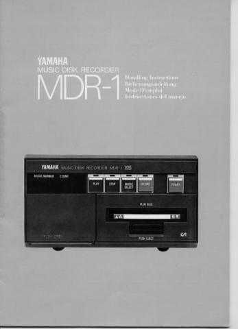 Yamaha MDR1E_1 Operating Guide by download Mauritron #203831