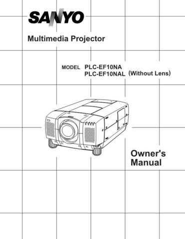Sanyo PLC-XU35 Manual Manual by download #175012